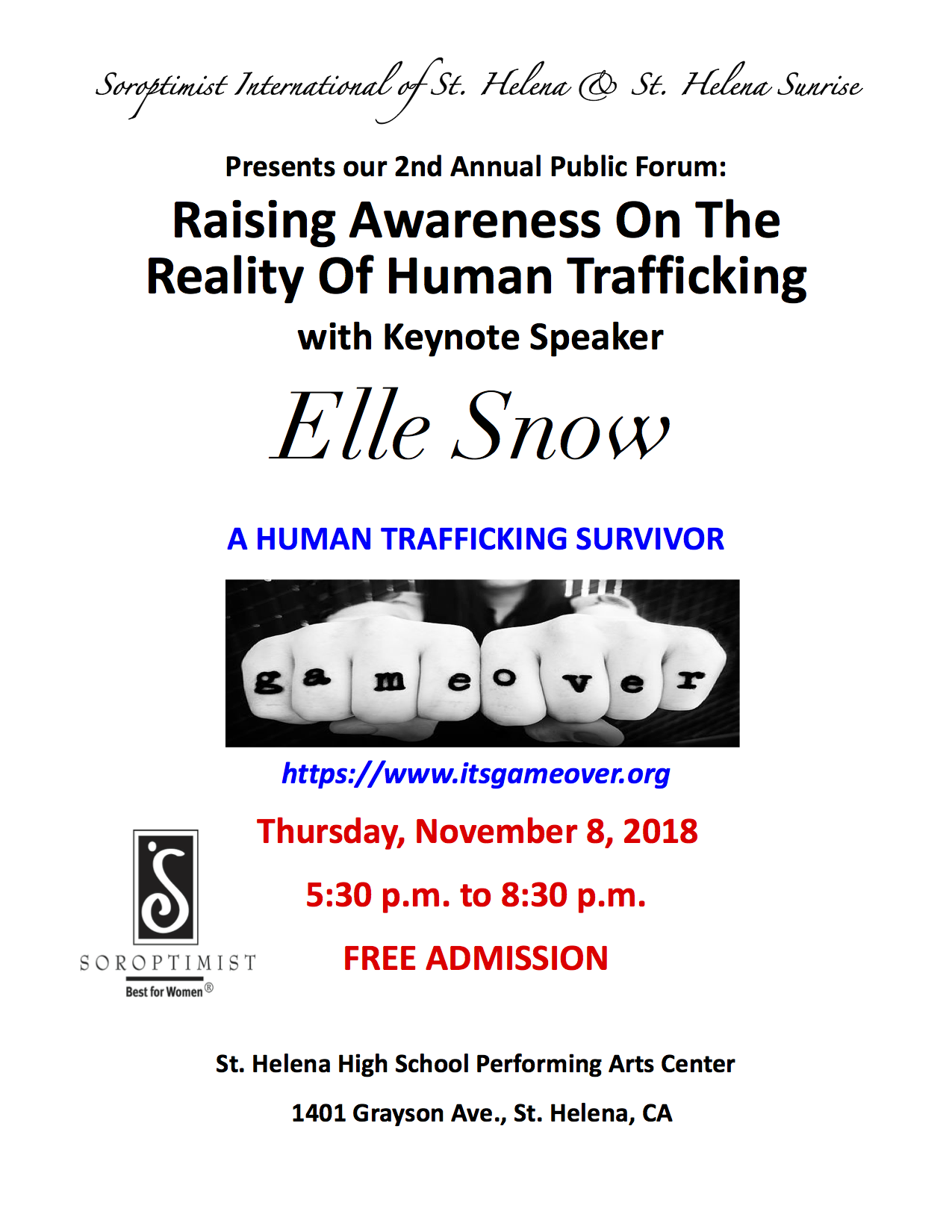 2nd Annual Human Trafficking Event